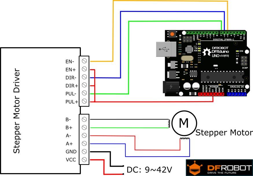 Tb6600 arduino stepper motor driver dfrobot for Stepper motor controller software freeware