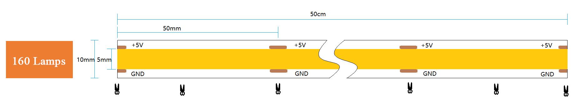 LED Flexible Strip Light (White)