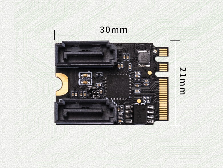 M.2(A+E Key)to SATA3.0 Expansion Card