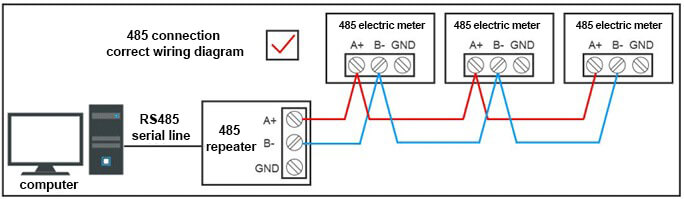 Industrial Grade RS485 Repeater Connection diagram