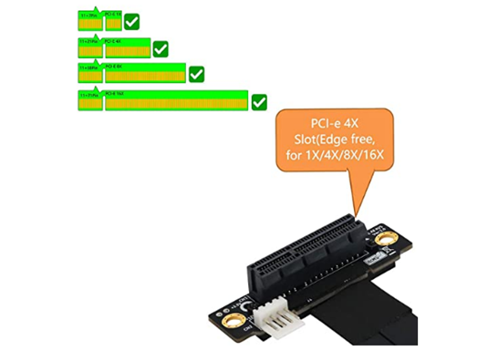 R42SR M.2 Key-M PCI-E x4 Extension Cord