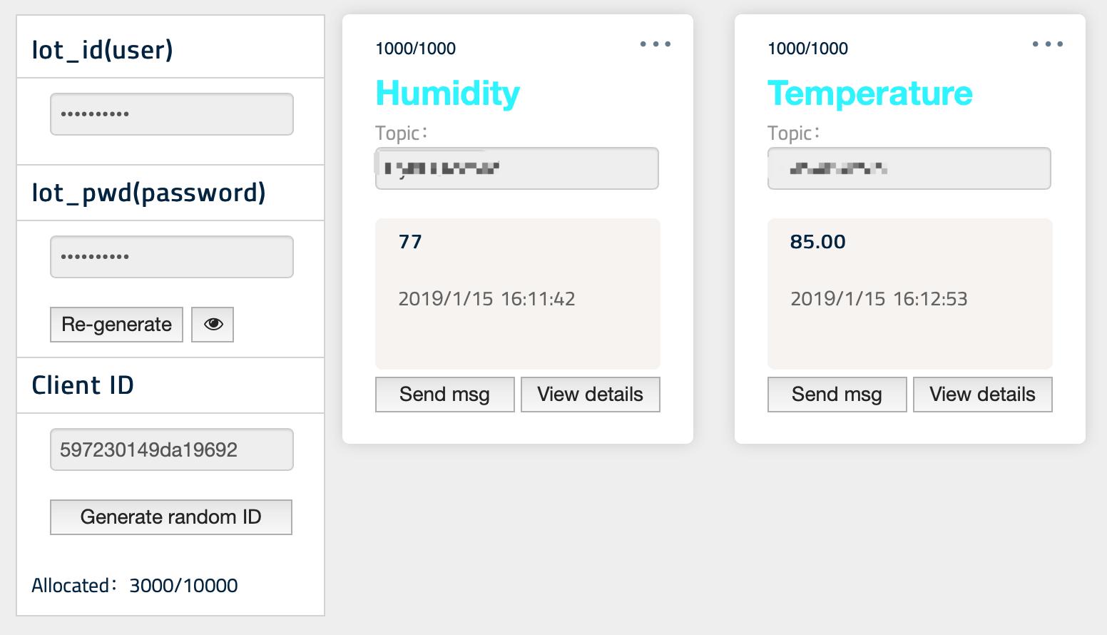 EasyIoT interface