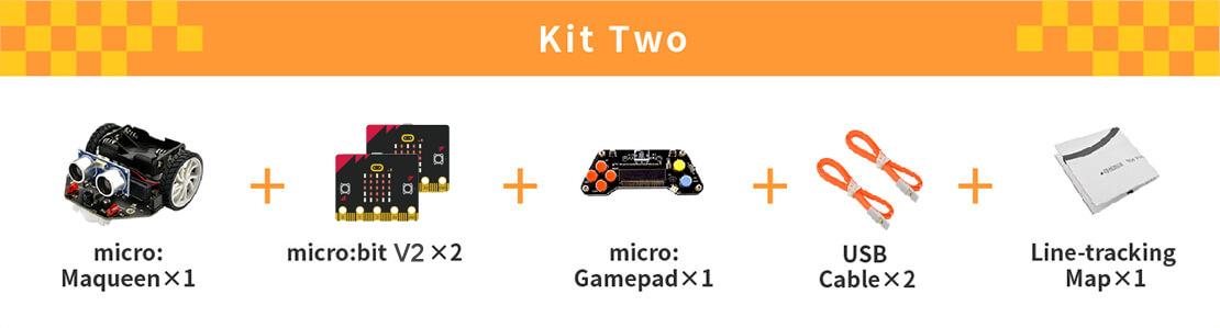 micro: Maqueen (with micro:bit/micro:Gamepad), micro: Maqueen