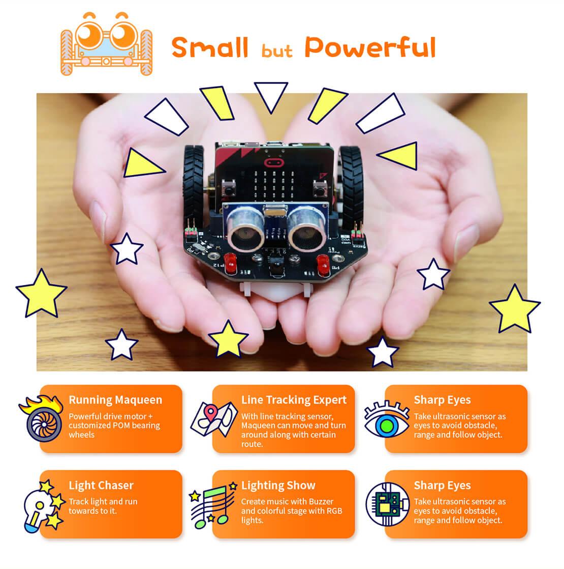 micro: Maqueen micro: bit Plataforma de robot de programación educativa