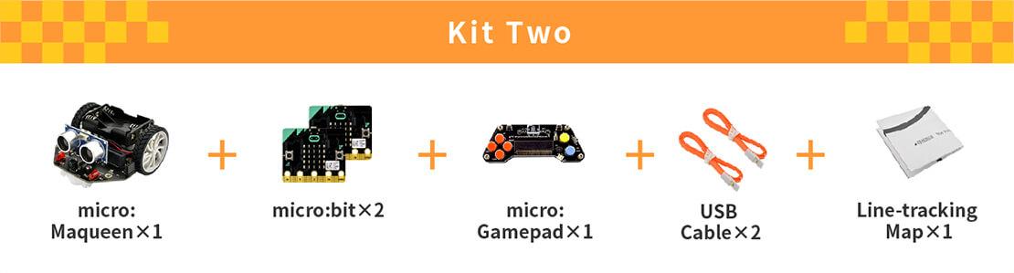 micro: Maqueen (with micro:bit/micro:Gamepad), micro: Maqueen, micro:bit, micro:Gamepad)