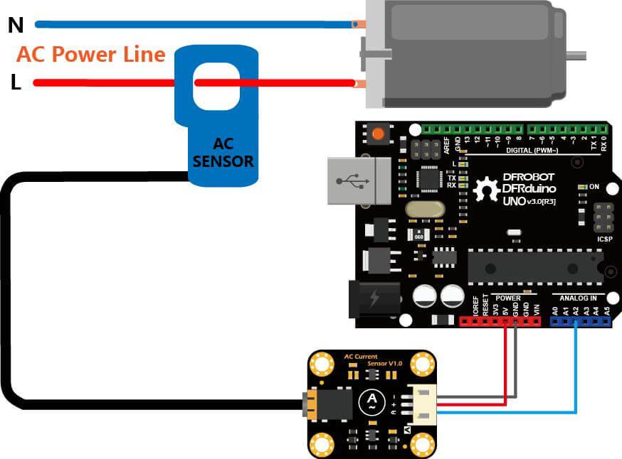 Gravity  Analog Ac Current Sensor  20a