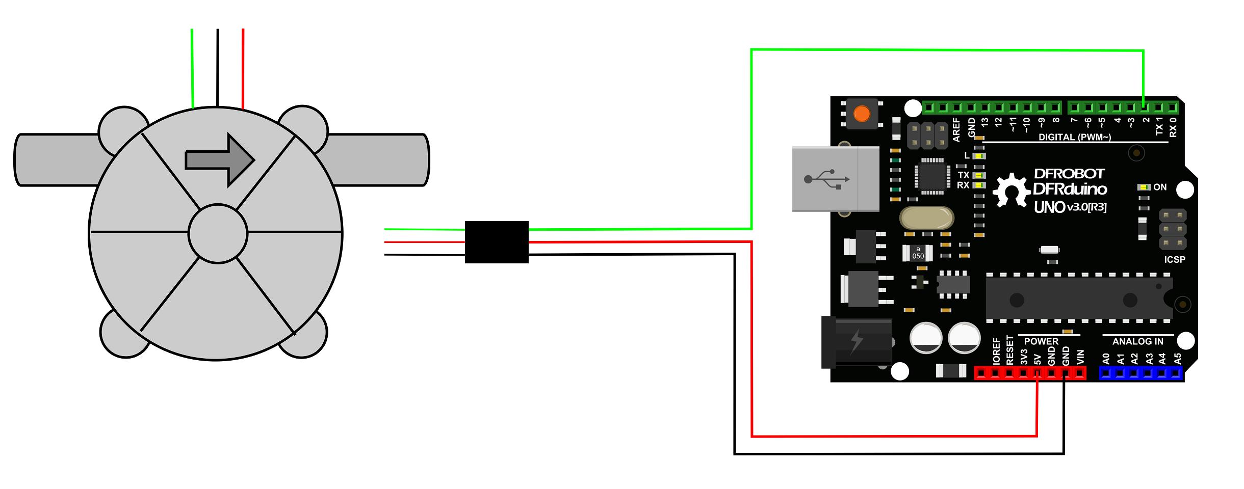 Gravity Arduino Digital Water Flow Sensor 1 8 Quot Dfrobot
