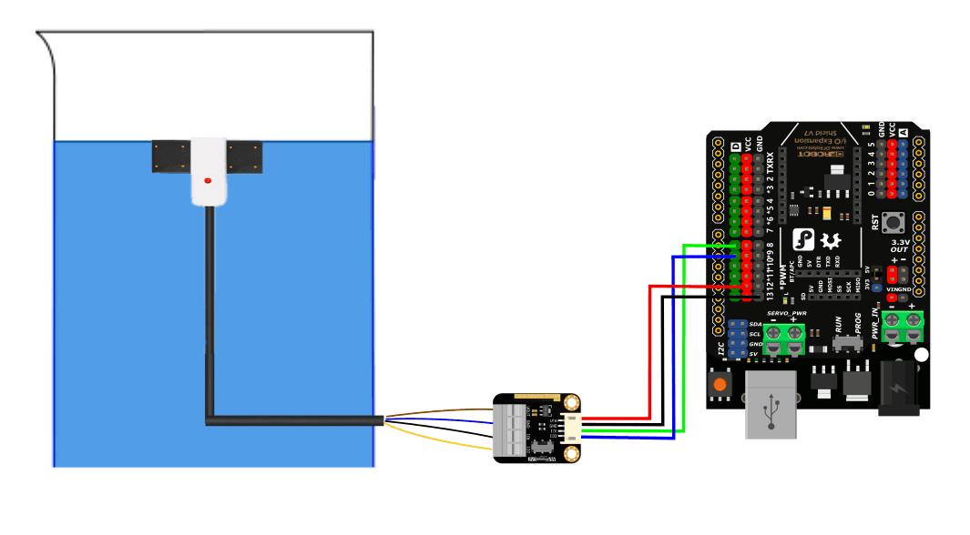Non-contact Capacitive Liquid Level Sensor