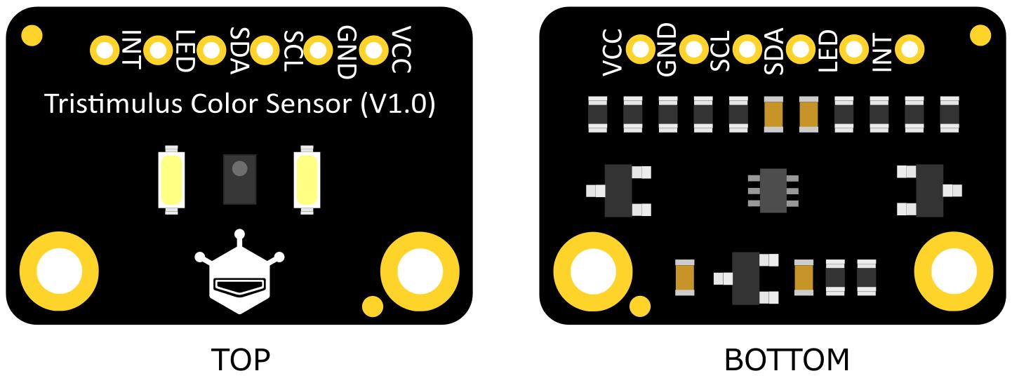 Fermion:TCS3430 Tristimulus Color Sensor(Breakout)