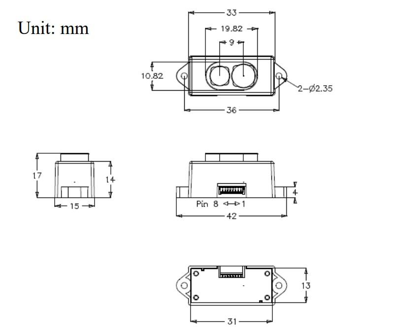 TOF IR Distance Sensor