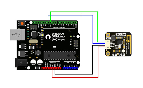 OBLOQ connection diagram with Arduino UNO